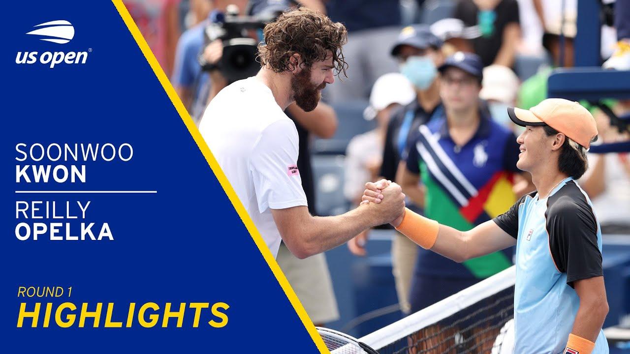 Soonwoo Kwon vs Reilly Opelka Highlights | 2021 US Open Round 1