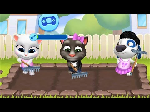 My Talking Tom Friends 🐷 Angela, Ben, Hank, Gina Android Gameplay By Outfit7