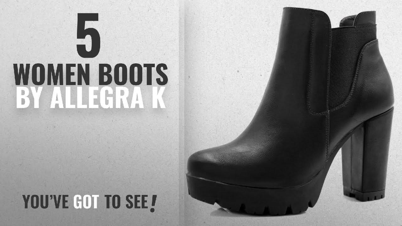 4de07380a497 Top 10 Allegra K Women Boots  2018   Allegra K Women s Chunky High Heel  Platform Chelsea Boots (Size