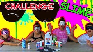 "BLINDFOLDED SLIME CHALLENGE ( GONE WRONG) ""ALISSON&EMILY"""