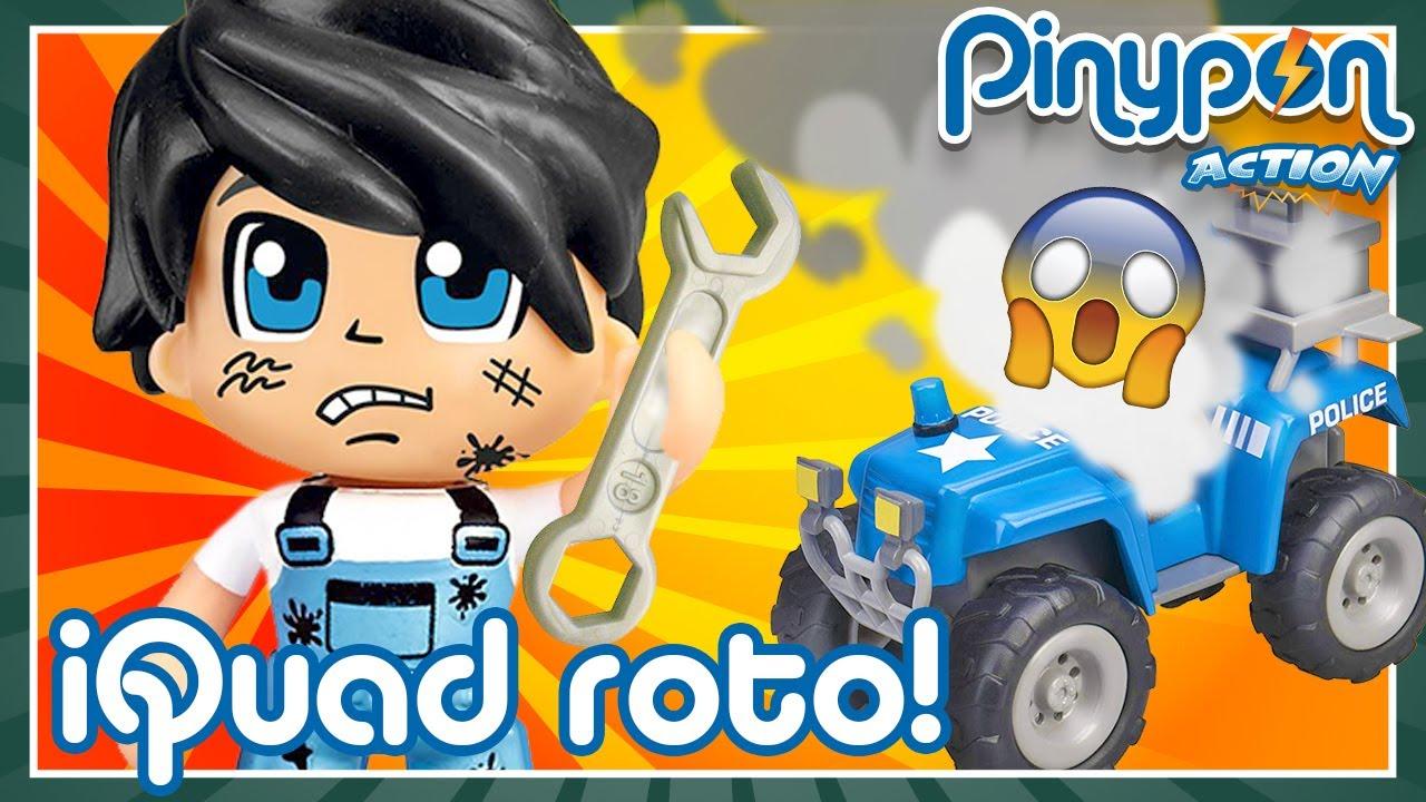 QUAD y SEGWAY POLICÍA de Pinypon Action ROTOS 🔧🚔 ¡Hay que usar el box del mecánico Pinypon!