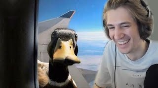 xQc Reacts to memes approved by quackers the duck