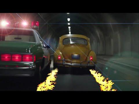 Bumblebee escapa de la policía-Transformer (BUMBLEBEE MOVIE 2019)