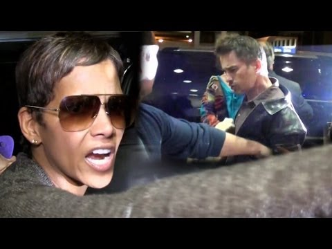 Halle Berry Breaks Up Fight Between Olivier Martinez And Photographer At LAX