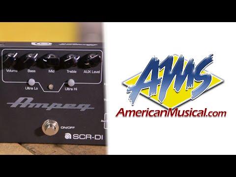 Ampeg SCRDI Overview - Ampeg SCRDI Bass Preamp DI Pedal