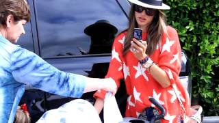 Alessandra Ambrosio, Jamie Mazur, Anja Ambrosio Mazur and Noah Celebrate Independence Day in Malibu