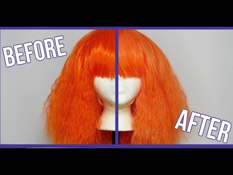 How to Lighten the Color of a Synthetic Wig