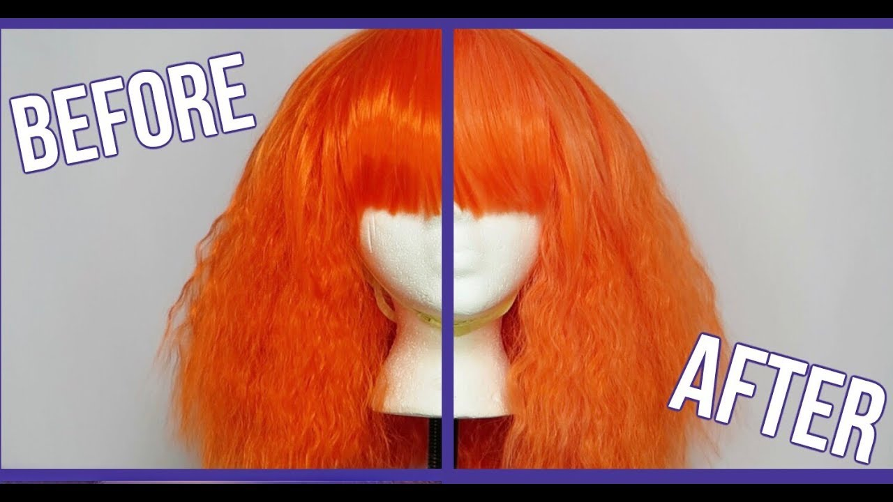 How To Lighten The Color Of A Synthetic Wig Youtube