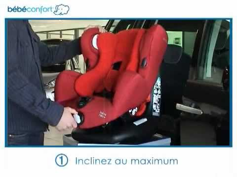 installation dos la route du si ge auto groupe 1 neo de bebe confort youtube. Black Bedroom Furniture Sets. Home Design Ideas