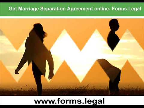 Marital Separation Agreement Legal Marital Separation Agreement
