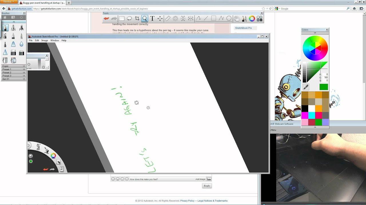 Rotation Lag Bug - SketchBook Pro with Wacom Tablet