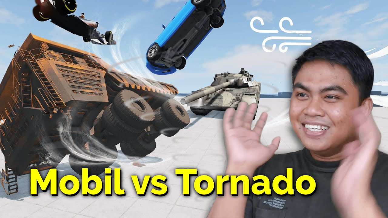Mobil vs Angin Tornado 500 km/jam! 💨🚘