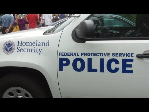 Homeland Security Federal Police at IRS Protest in St. Louis County May 21, 2013