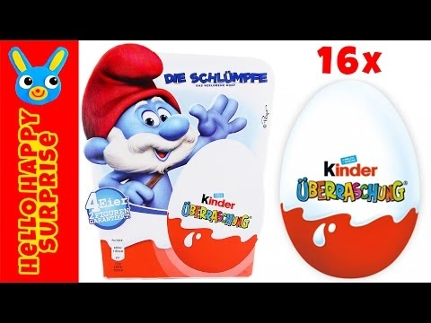 Kinder Surprise Eggs Finding Dory Smurfs The Lost Village - YouTube