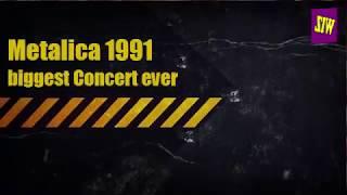 Metallica biggest concert ever. look what happened ميتاليكا في روسيا , انظر ماذا حصل