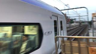 特急スーパーあずさE353系 国立駅通過