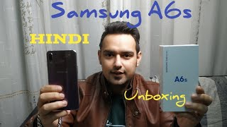 #SamsungA6s#A6sUnboxing Hindi Samsung A6s Unboxing and Hands on