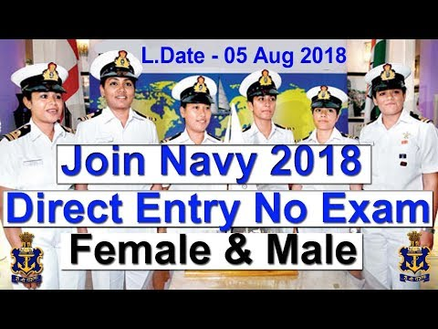 Direct Entry Join Indian Navy 2018 All India Vacancy Female & Male Technical & Executive Entry