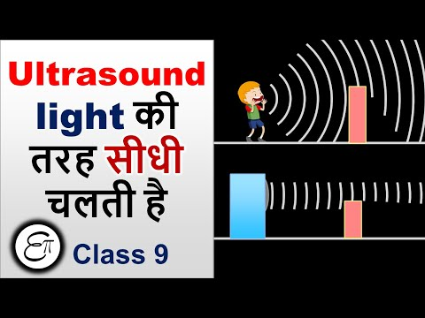 Ultrasound has directional property and its shows less diffraction || in HINDI for Class 9   #Shorts