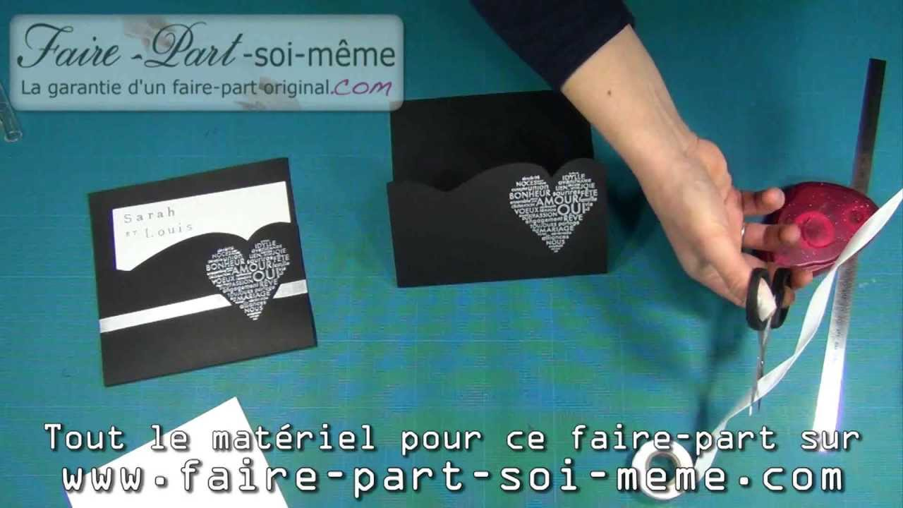 Faire part de mariage sarah et louis youtube - Carte de noel originale a faire soi meme ...