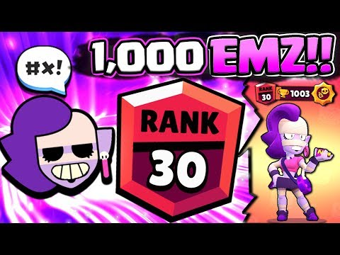 WE GOT 1000 TROPHY EMZ FROM NEW MODE! RANK 30 EMZ GAMEPLAY IN BRAWL STARS!