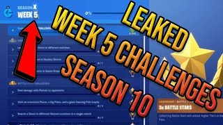 Fortnite Season 10 Week 5 Challenges Guide Leaked - Blockbuster