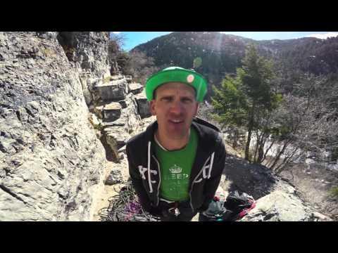 American Fork Canyon, Sport Climbing in 4K HARD ROCK WALL