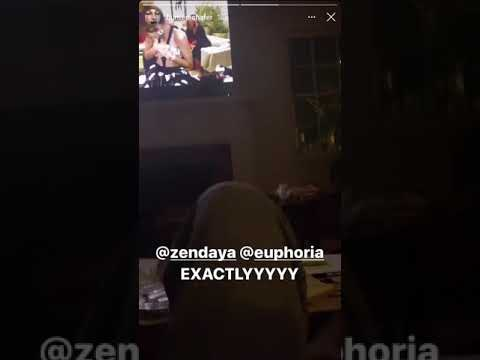 Hunter Schafer's reaction to Zendaya winning the Emmy
