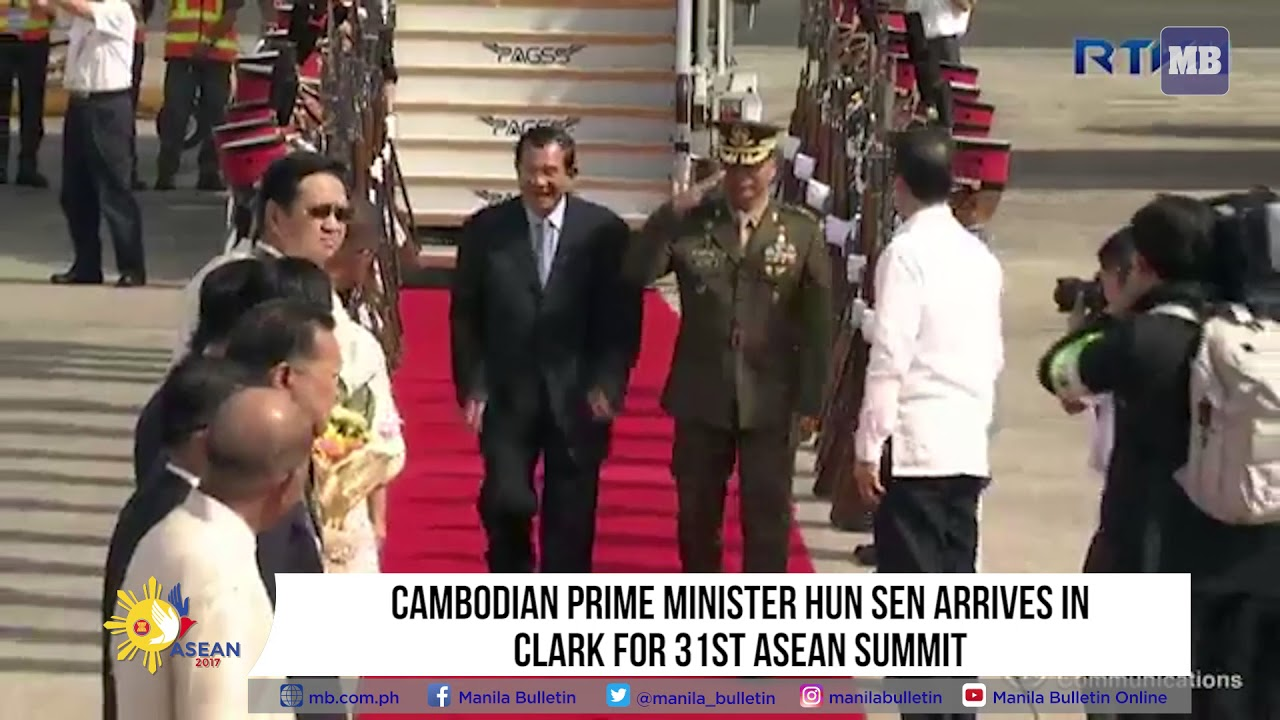Cambodian Prime Minister Hun Sen arrives in Clark for 31st ASEAN Summit