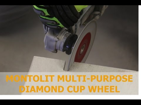 STL multipurpose cup wheel by Montolit Italy - 5'' (125mm)