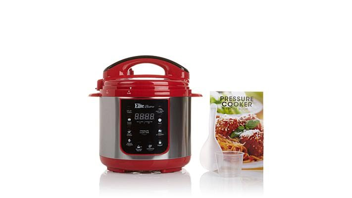 Elite Bistro 4qt Electric Pressure Cooker w/Recipe Book