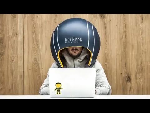 Helmfon first helmet to economize the working space