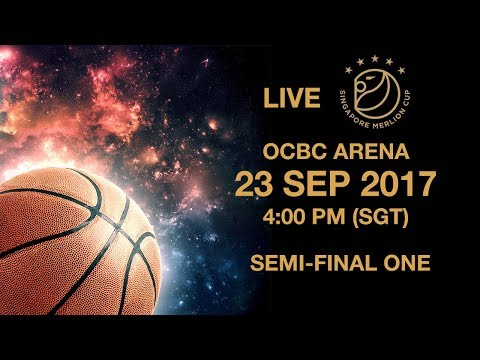 Basketball 🏀 ​Semi-final Shanghai Sharks 🇨🇳 vs 🇸🇬 Singapore Slingers | Singapore Merlion Cup 2017