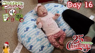 Reborn Baby Countdown to Christmas! Changing Baby Quinlynn - Day 16 | Kelli Maple