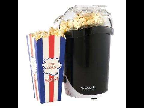 vonshef fat free hot air popcorn maker