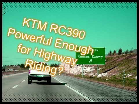 How Does the KTM RC390 Hold Up on the Highway?