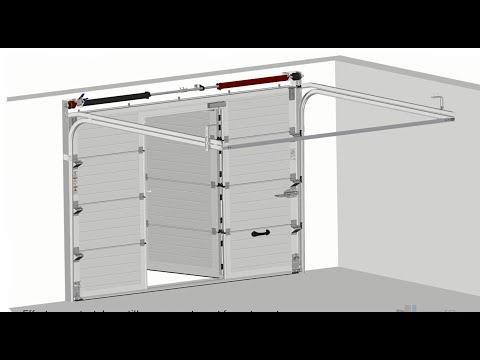 Montage Porte Sectionnelle Avec Portillon By Neo10com Tv