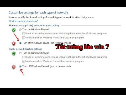 Cách tắt tường lửa trên win 7, tắt firewall win 7