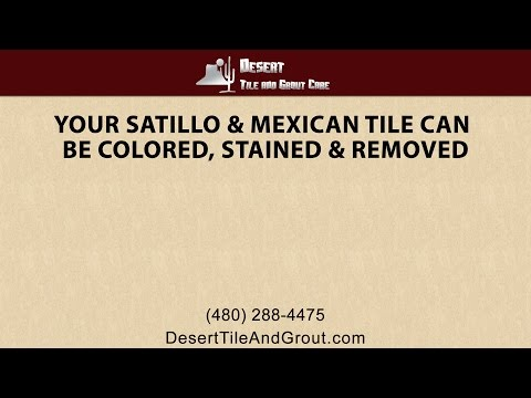 Your Saltillo and Mexican Tile Can Be Colored, Stained and Renewed By Desert Tile and Grout!
