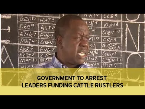 Government to arrest leaders funding cattle rustlers