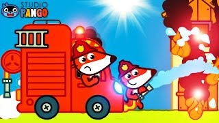 Fire Trucks for for Kids | Fire Engine and Fire - Pango Storytime | Videos & Cartoons for Children