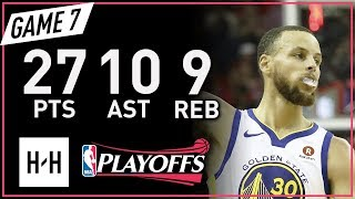 Stephen Curry Full Game 7 Highlights vs Rockets 2018 NBA Playoffs WCF - 27 Pts, 10 Ast, 9 Reb!