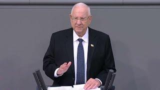 """ריבלין בפרלמנט הגרמני: """"אירופה שבה להיות רדופה על ידי רוחות העבר"""""""