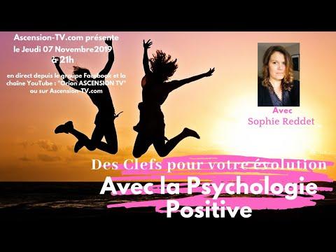 Des clefs pour votre évolution avec la psychologie positive avec Sophie REDDET le 07/11/2019 à 21h