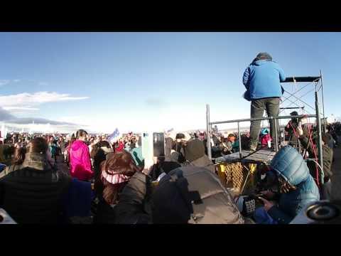 Chapuzon del estrecho 2017 HD video 360 (Grabación Drone Punta Arenas)