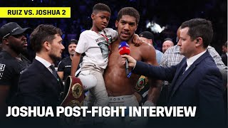 Download Anthony Joshua Reacts To Becoming Two-Time Champion; Wants Big Fights Next Mp3 and Videos