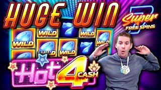 HUGE WIN on Hot4Cash Slot - £5 Bet