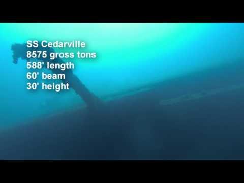 Shipwreck SS Cedarville Straits of Mackinac