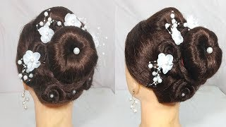 Easy Flower juda Hairstyle for party/wedding | Best Hairstyles for long hair | hair style girl