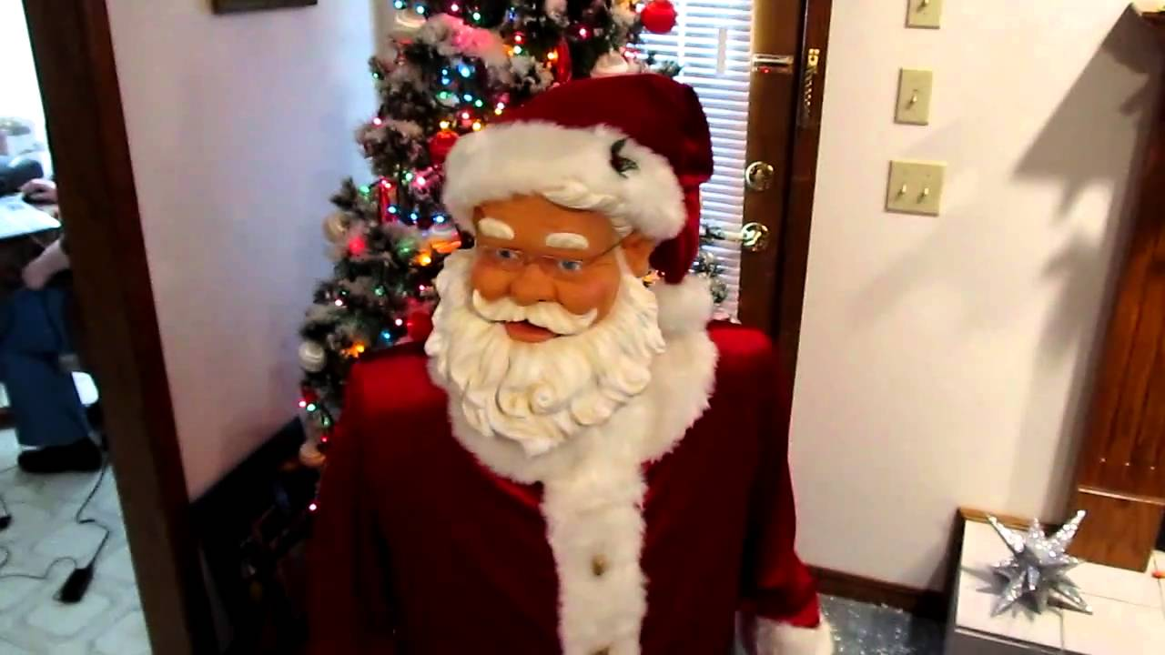 f5d4733b6b5b5 thelope.com - Gemmy Industries singing dancing Santa - YouTube